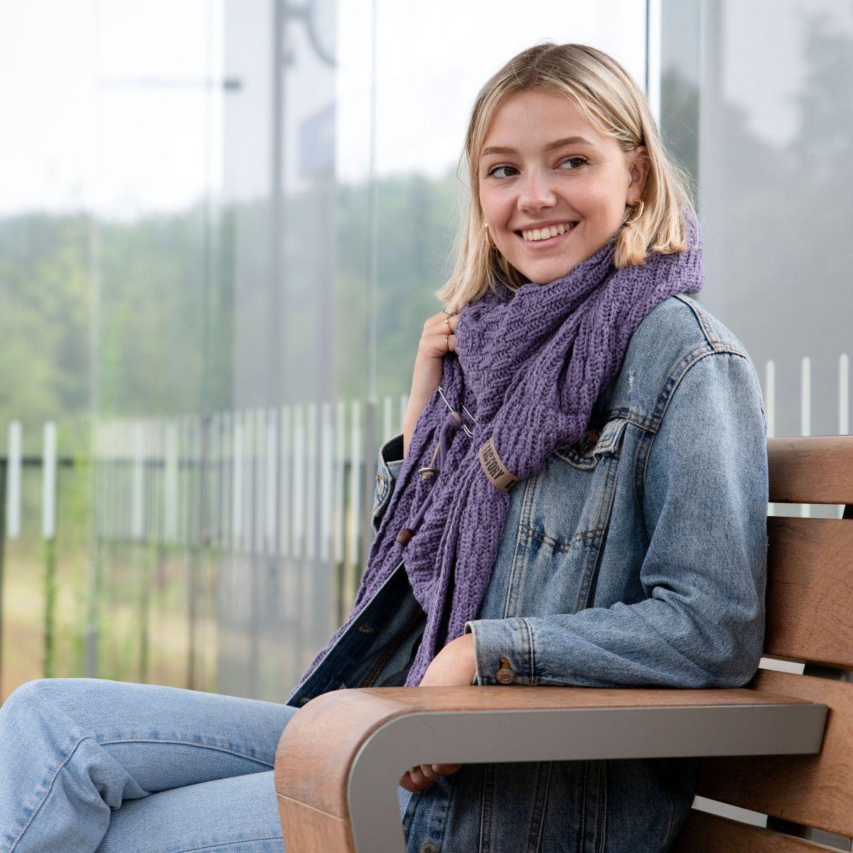 jaida triangle scarf ochre