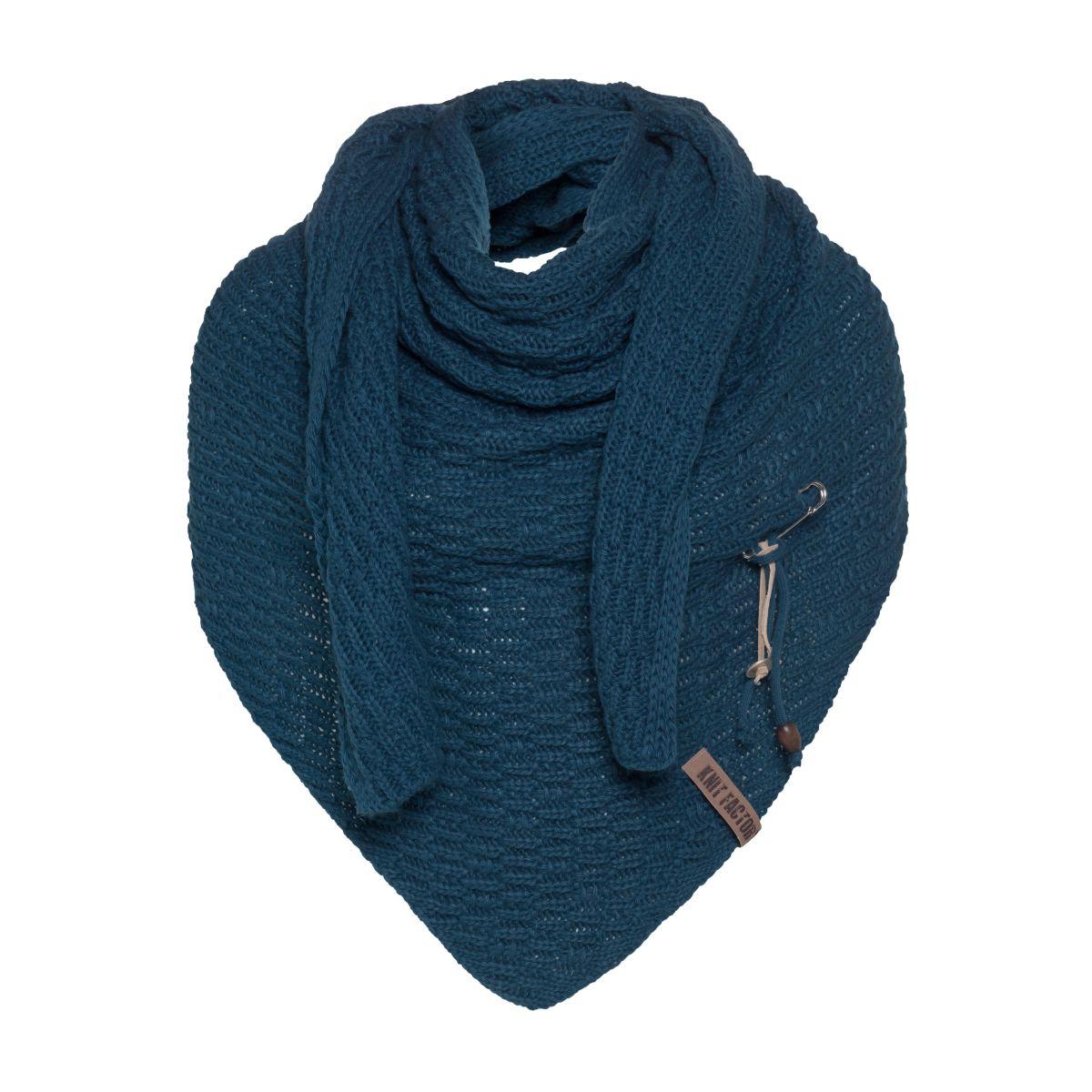jaida triangle scarf petrol