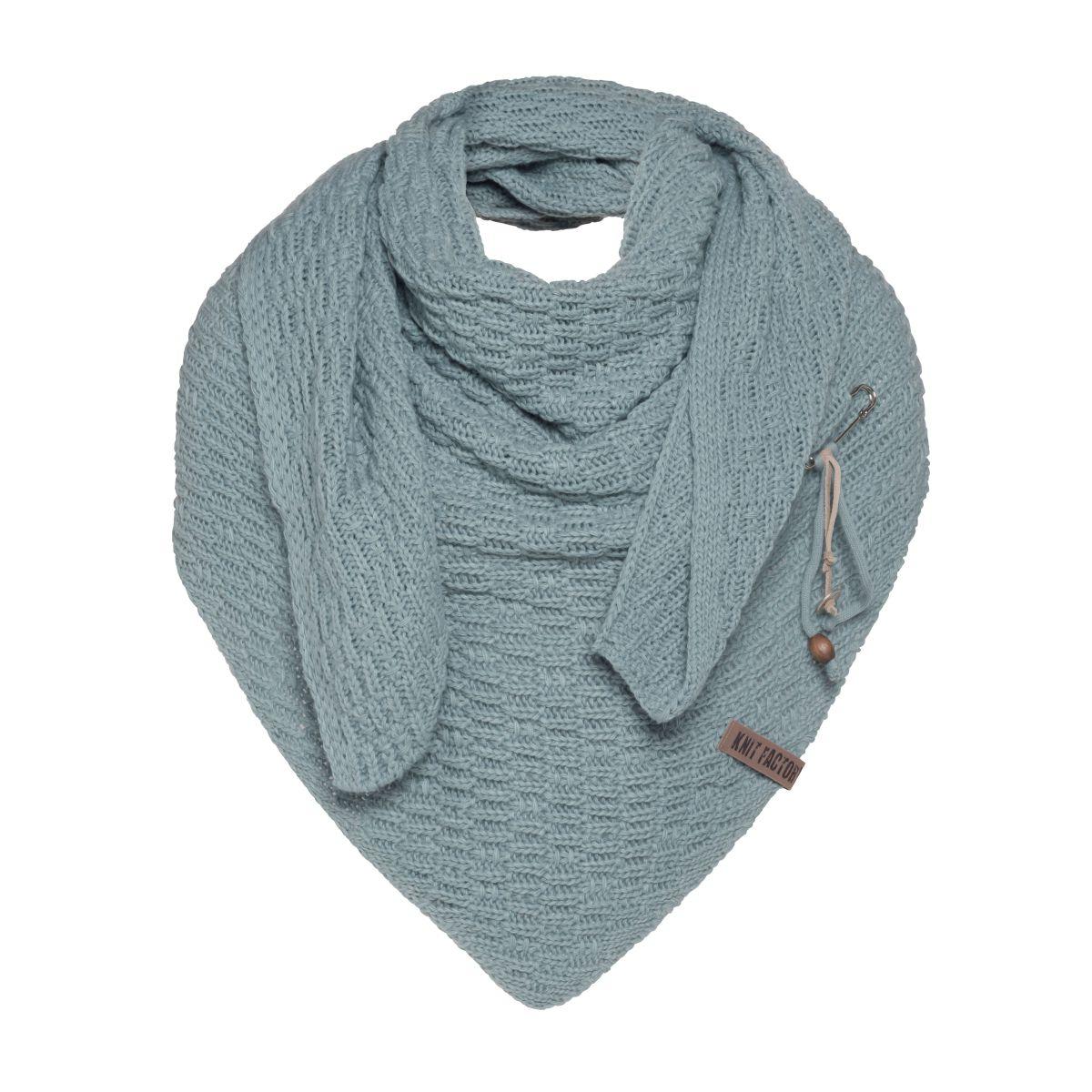 jaida triangle scarf stone green