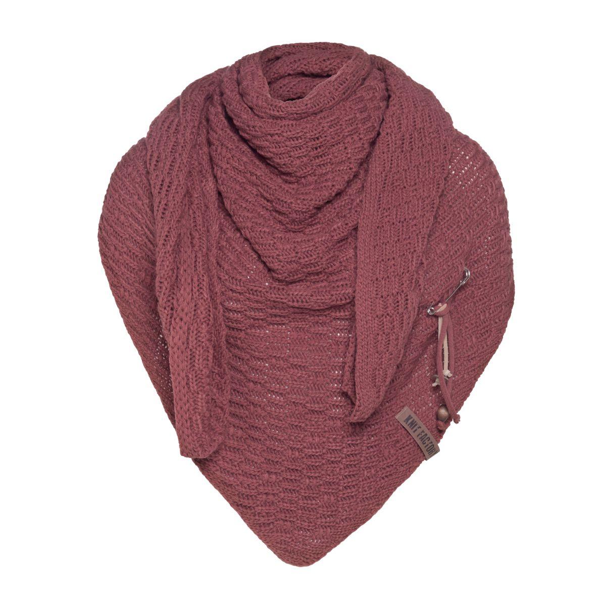 jaida triangle scarf stone red