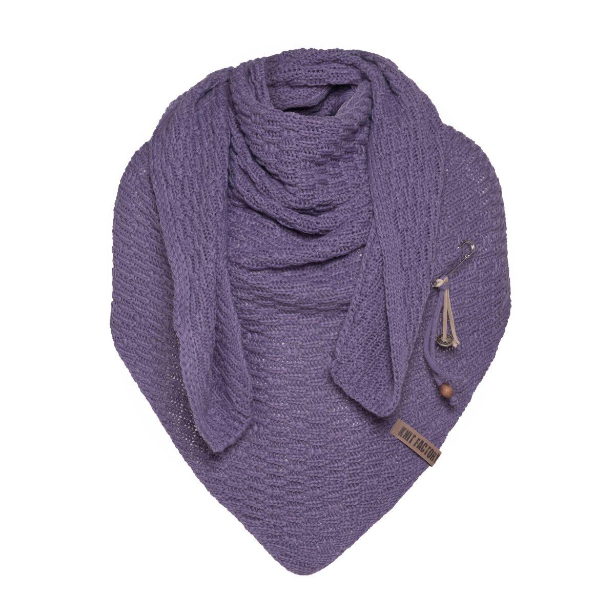 jaida triangle scarf violet