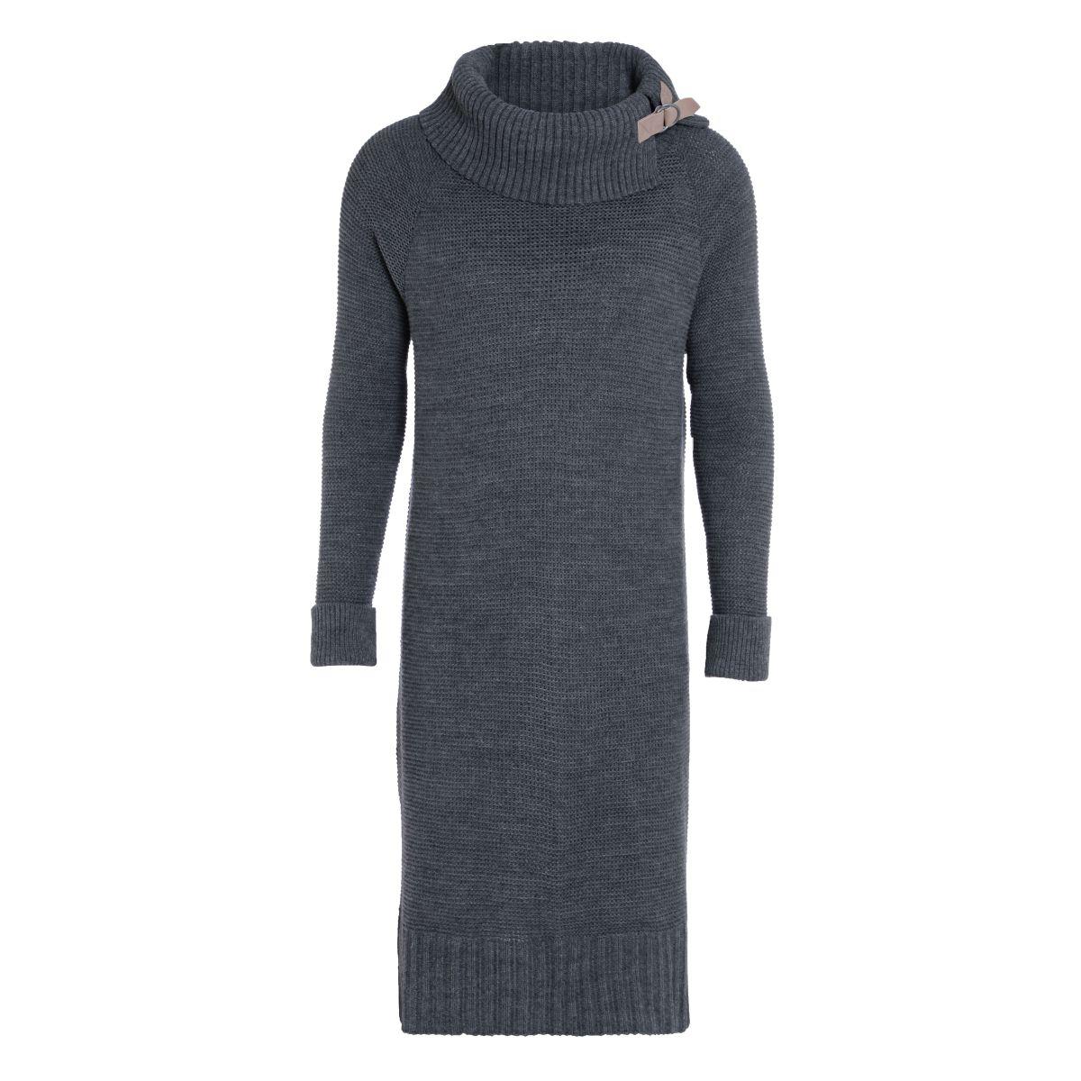 jamie gebreide jurk antraciet 4042