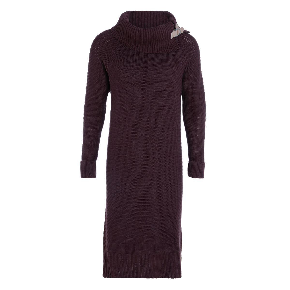 jamie gebreide jurk aubergine 4042