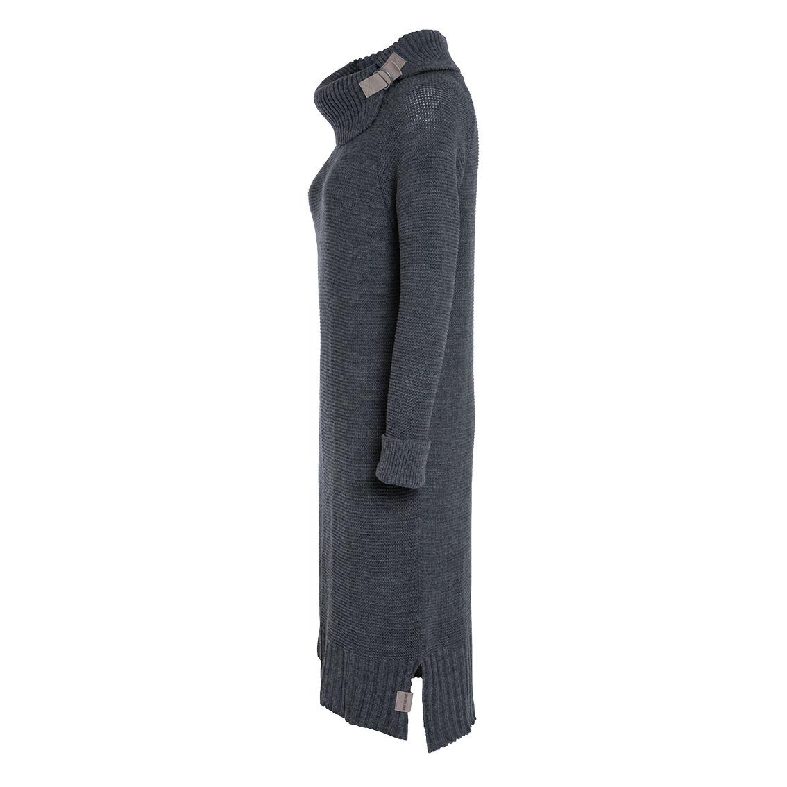 jamie gebreide jurk licht grijs 3638