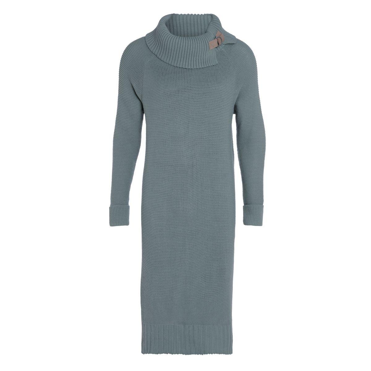 jamie gebreide jurk stone green 3638