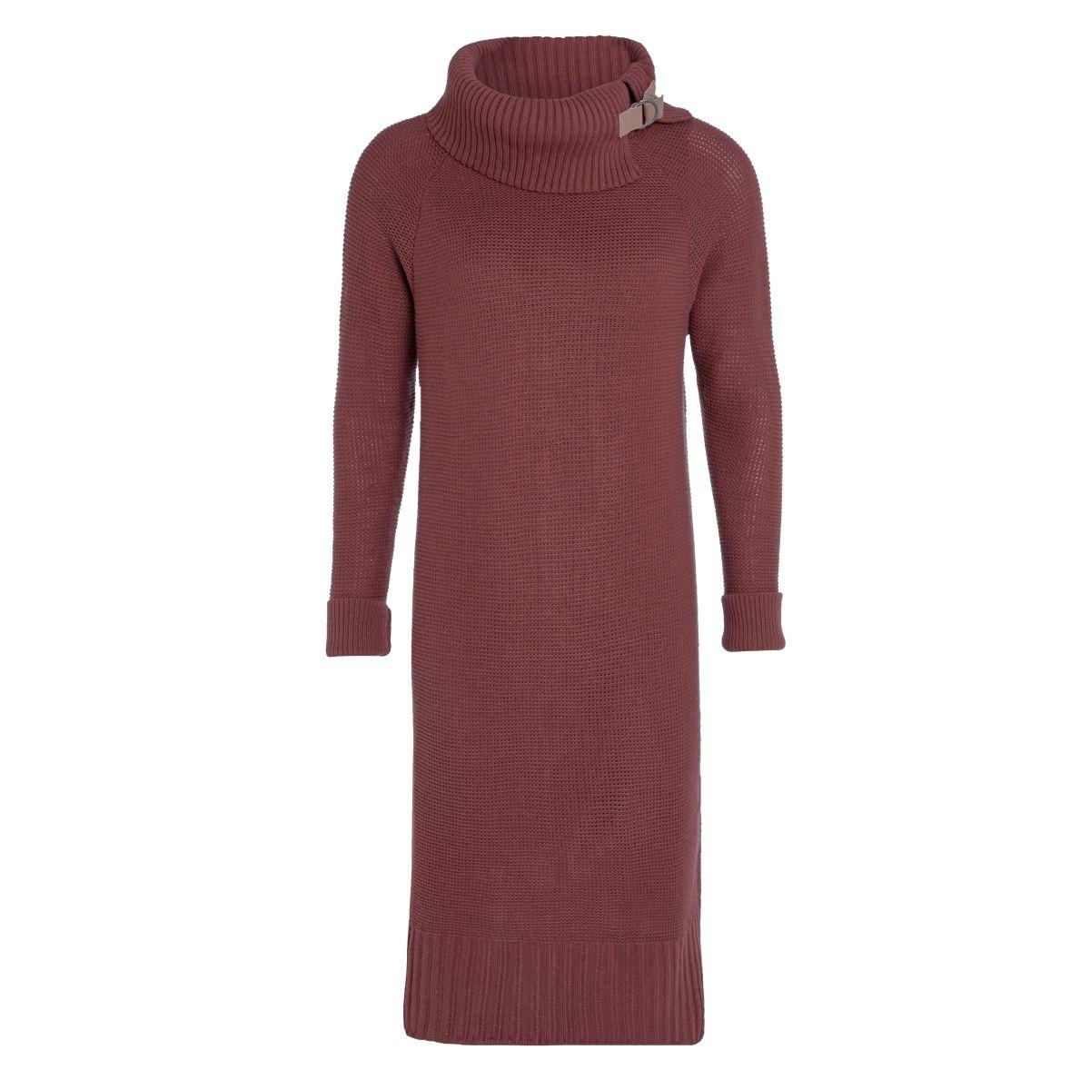 jamie gebreide jurk stone red 3638