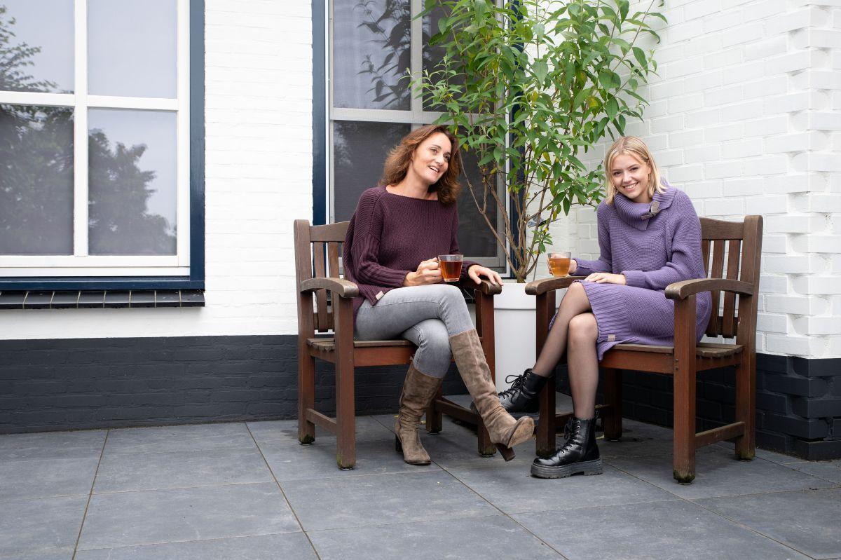 jamie gebreide jurk violet 3638