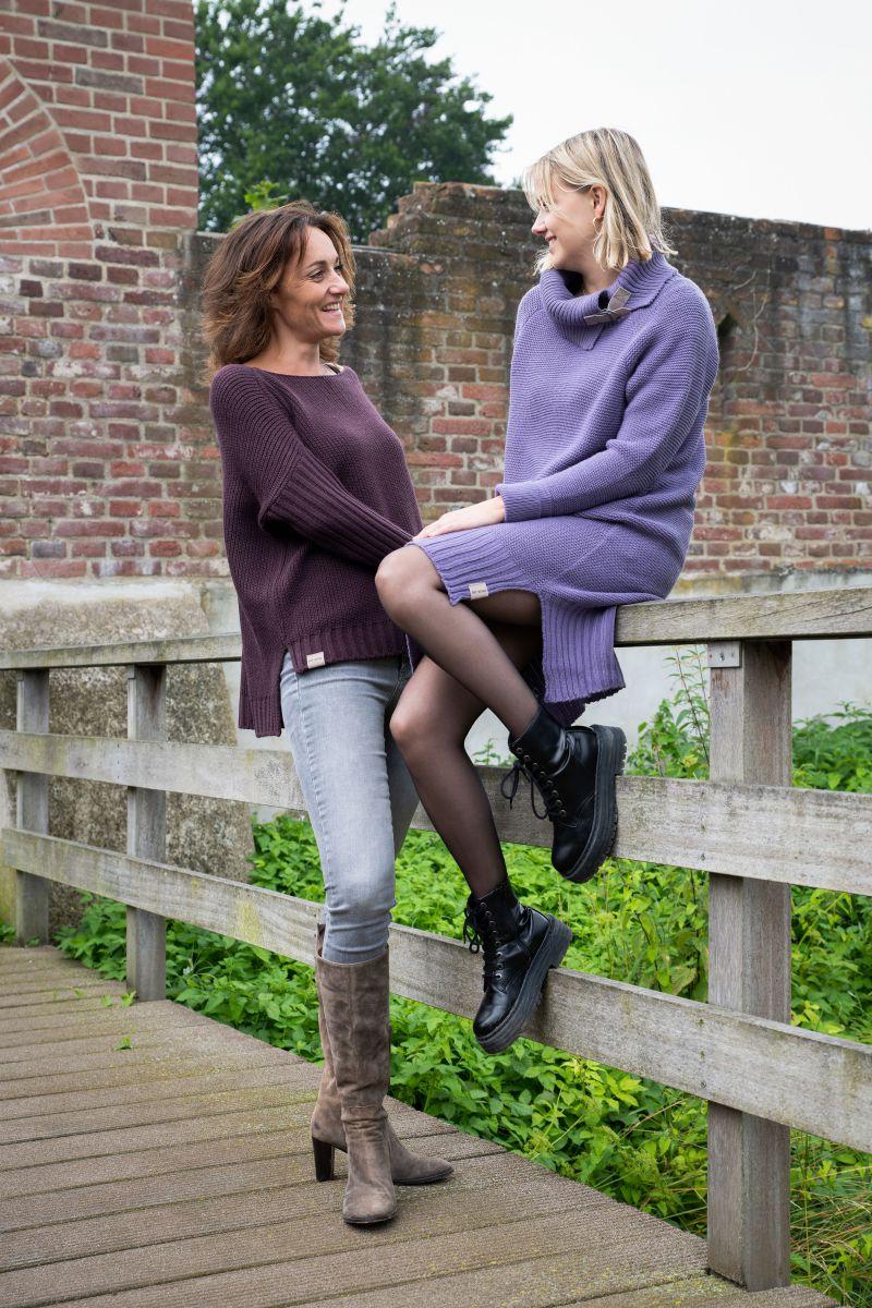 jamie gebreide jurk zwart 3638