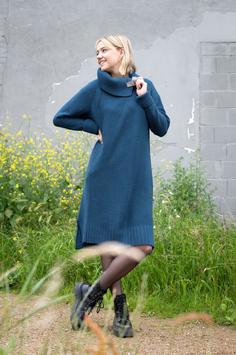 jamie gebreide jurk zwart 4042