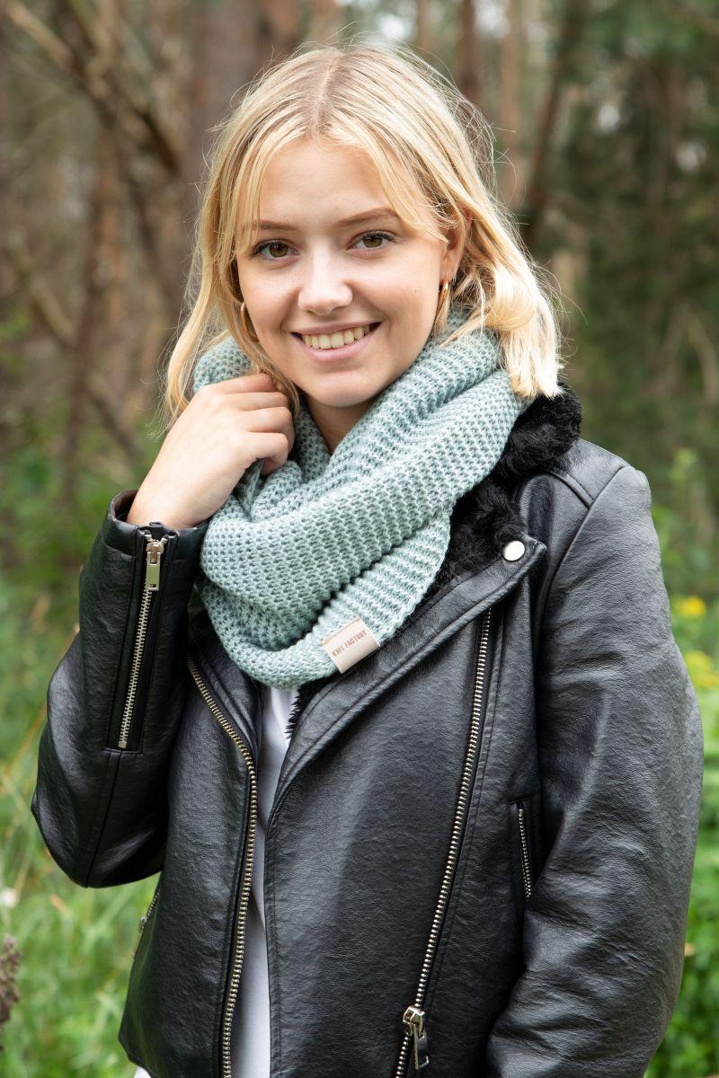 jamie infinity scarf stone green