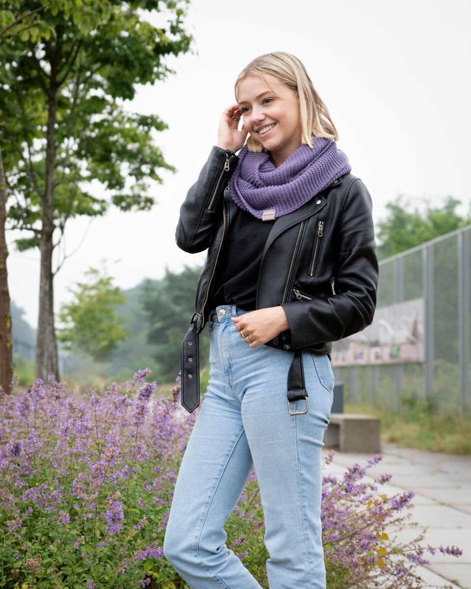 jamie infinity scarf violet