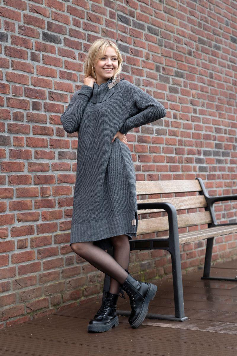 jamie knitted dress black 3638