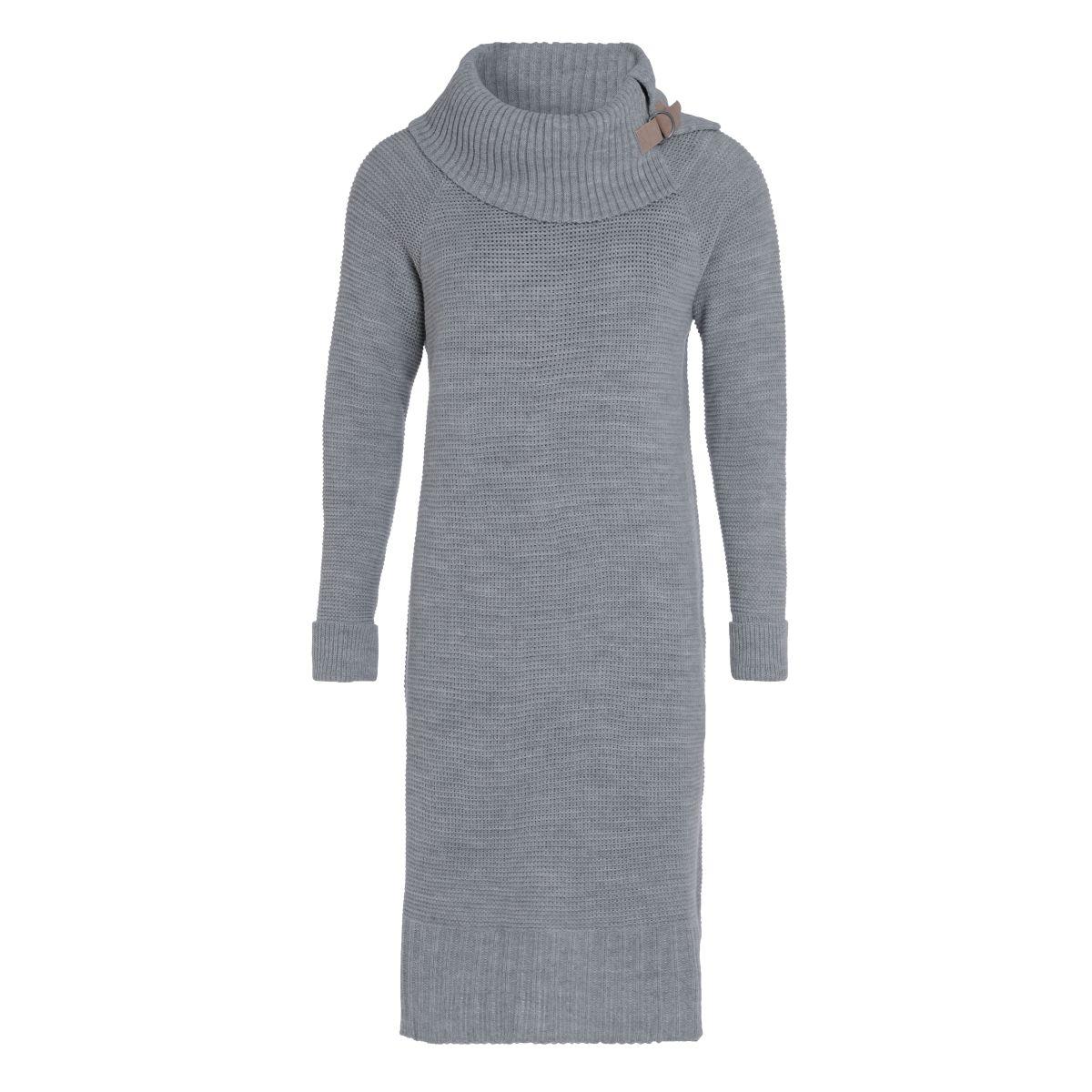 jamie knitted dress light grey 3638