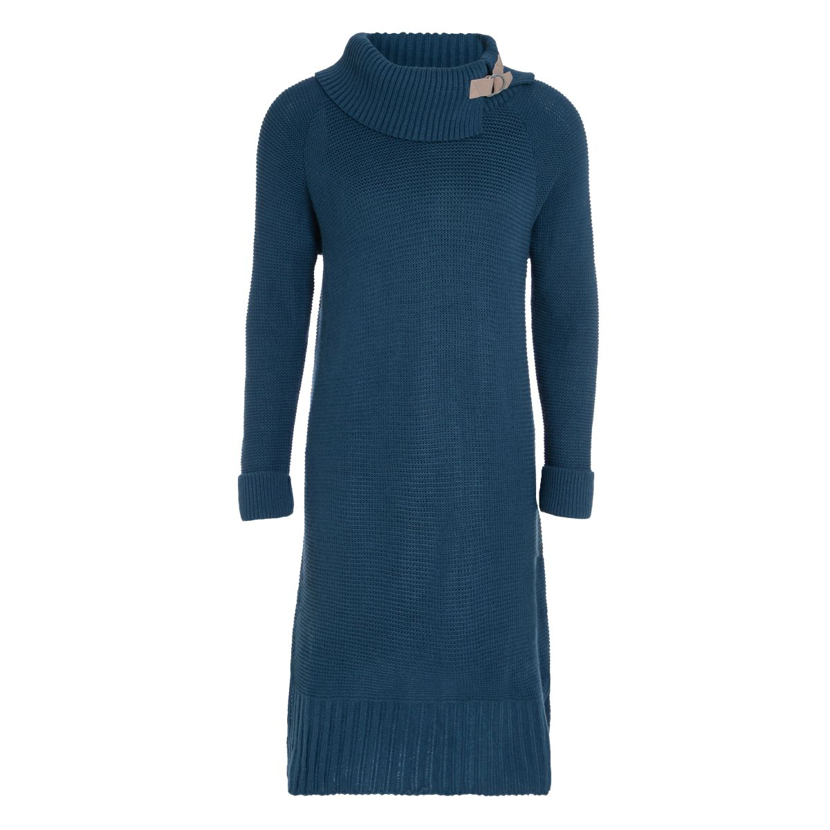 jamie knitted dress petrol 3638