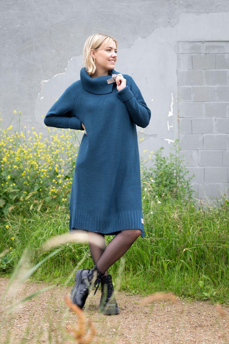 jamie knitted dress stone green 3638