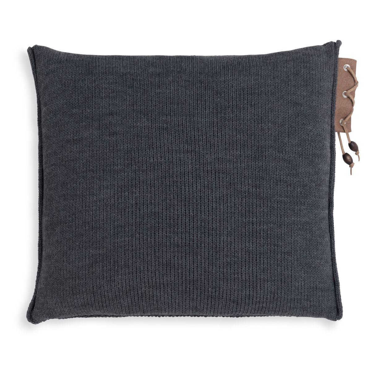 knit factory 1341210 jay kussen 50x50 antraciet 2