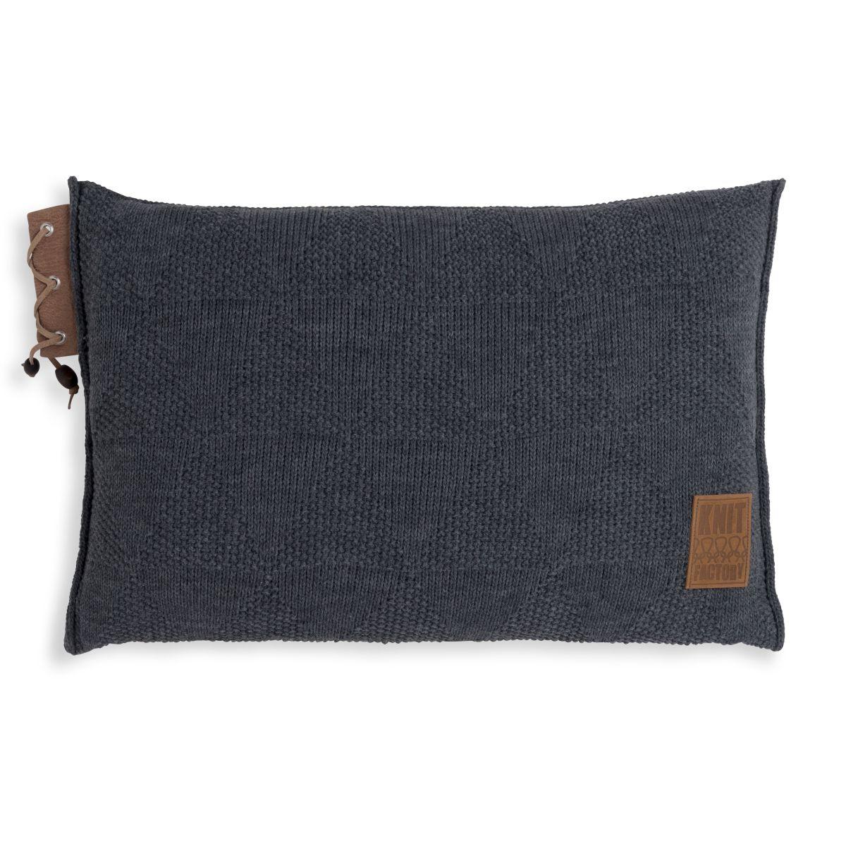 knit factory 1341310 jay kussen 60x40 antraciet 1