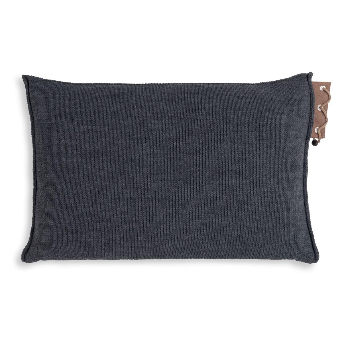 knit factory 1341310 jay kussen 60x40 antraciet 2