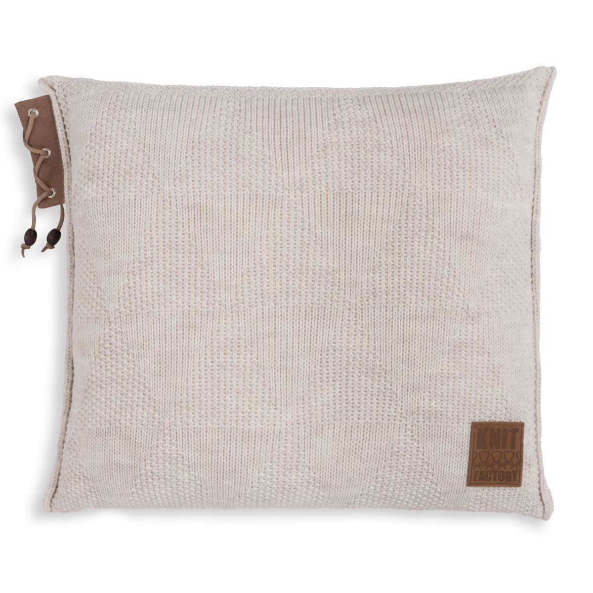 knit factory 1341212 jay kussen 50x50 beige 1