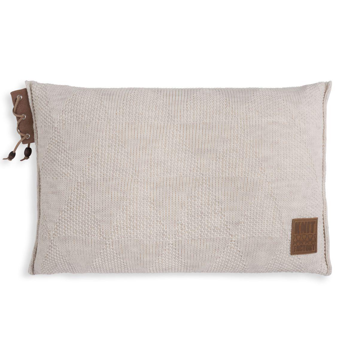 knit factory 1341312 jay kussen 60x40 beige 1
