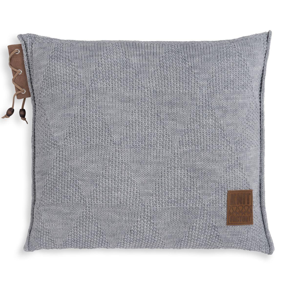 knit factory 1341211 jay kussen 50x50 licht grijs 1