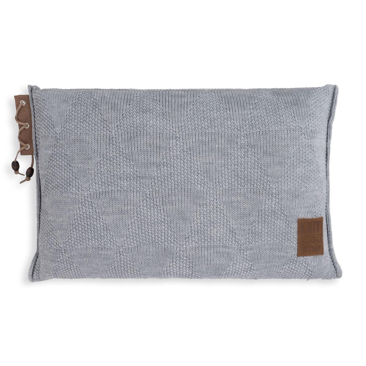 knit factory 1341311 jay kussen 60x40 licht grijs 1