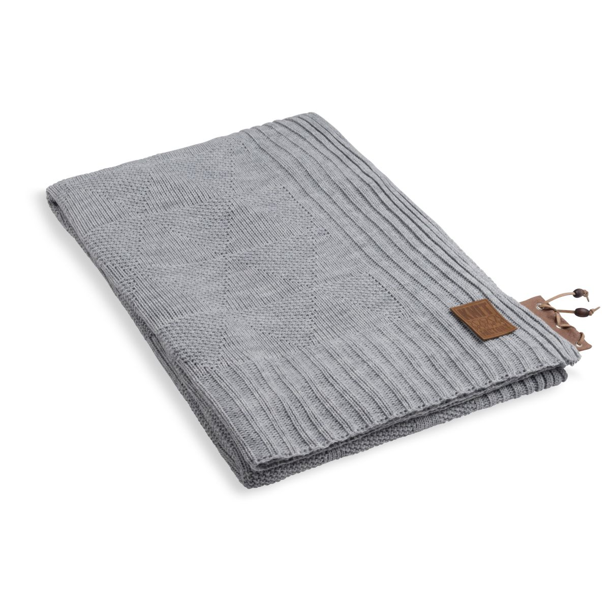 knit factory 1341111 jay plaid licht grijs 1