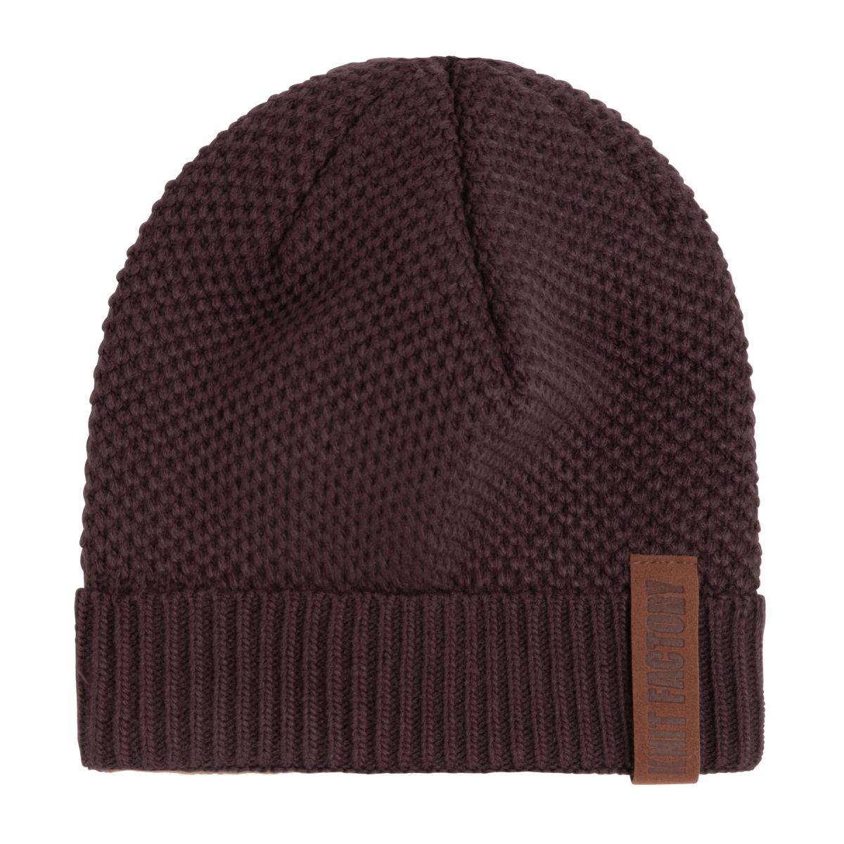 knit factory kf12307002350 jazz muts aubergine 1