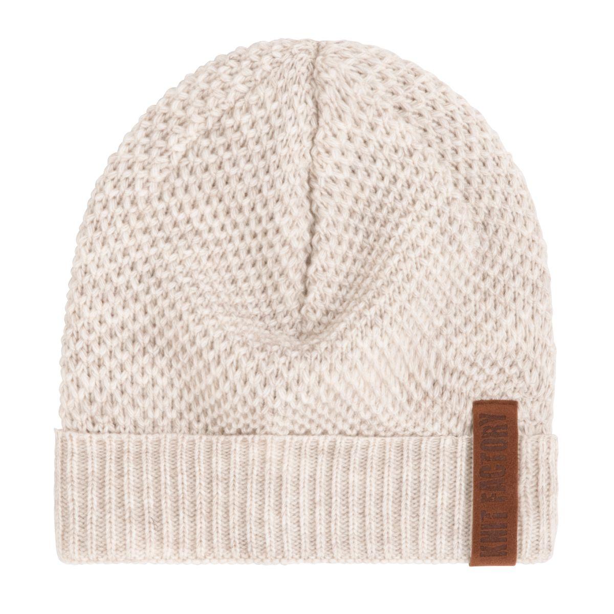 knit factory 1237012 jazz beanie beige 1
