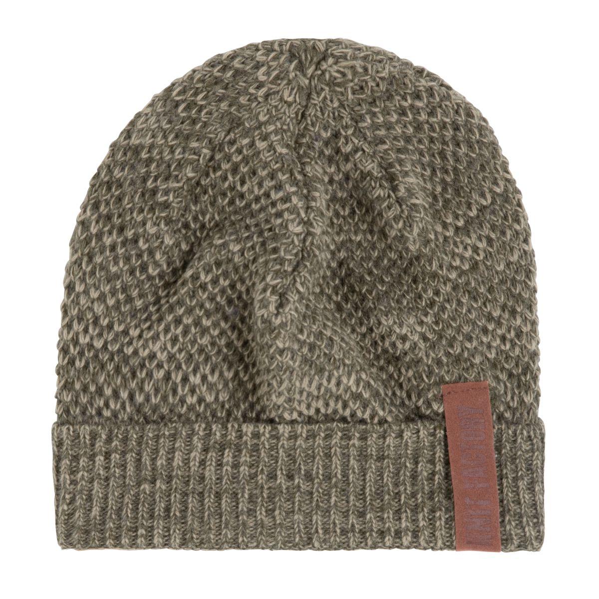 knit factory 1237044 jazz beanie groen olive 1