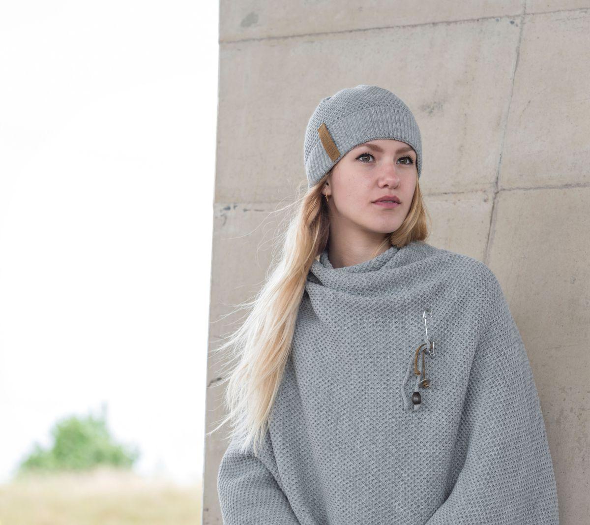 knit factory 1237011 jazz beanie grijs 2