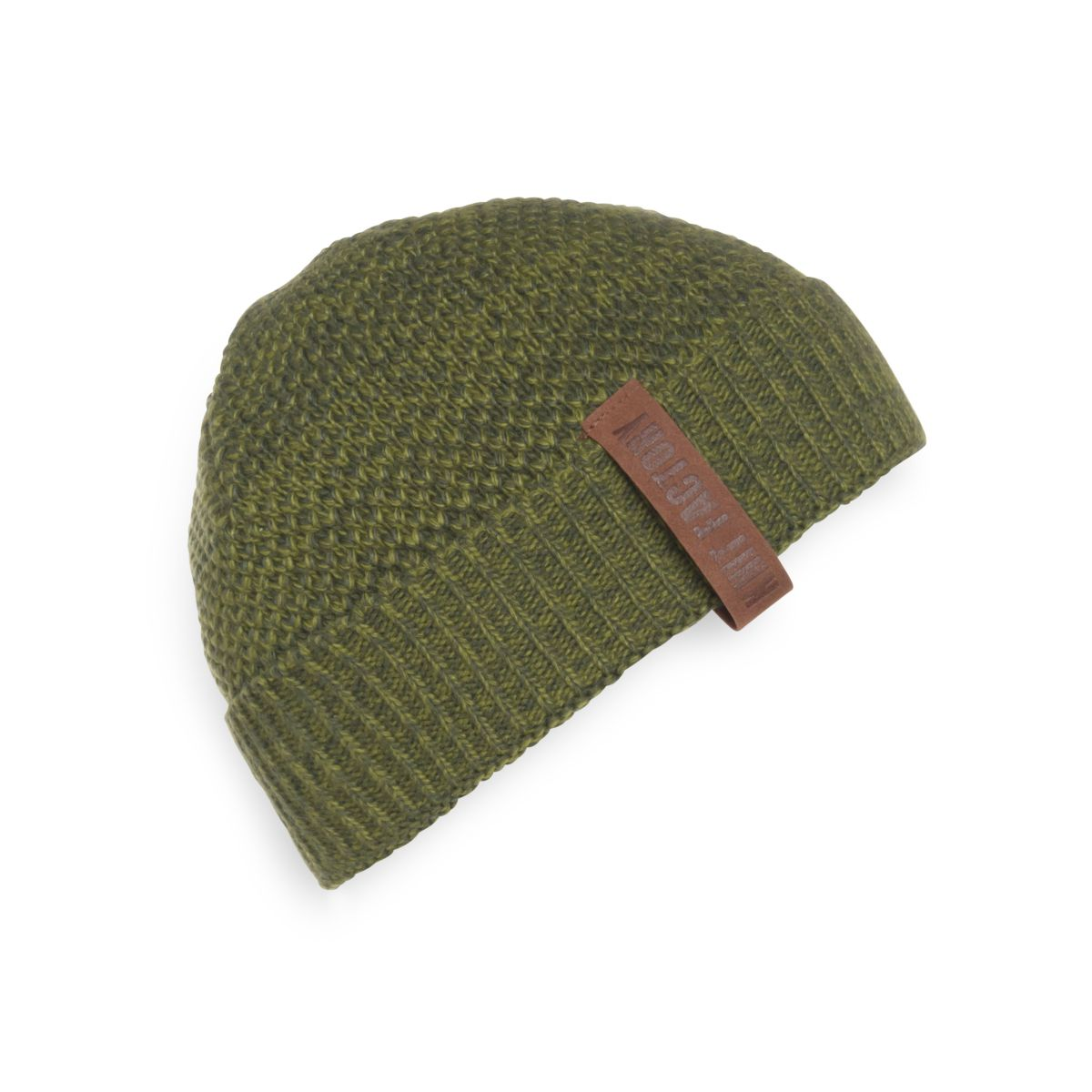 knit factory kf12307008550 jazz muts mosgroen khaki 1