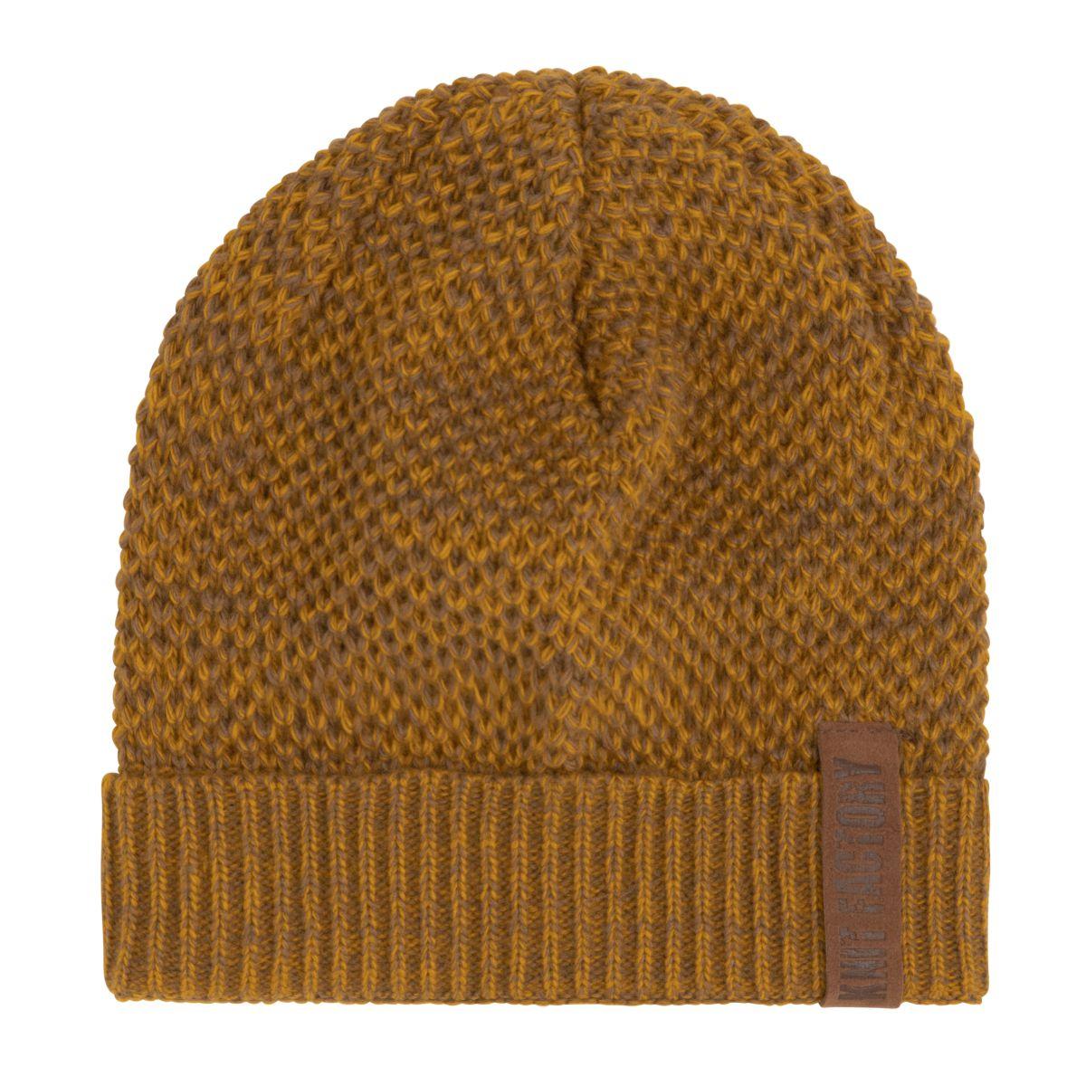 knit factory kf12307008750 jazz muts oker tobacco 1