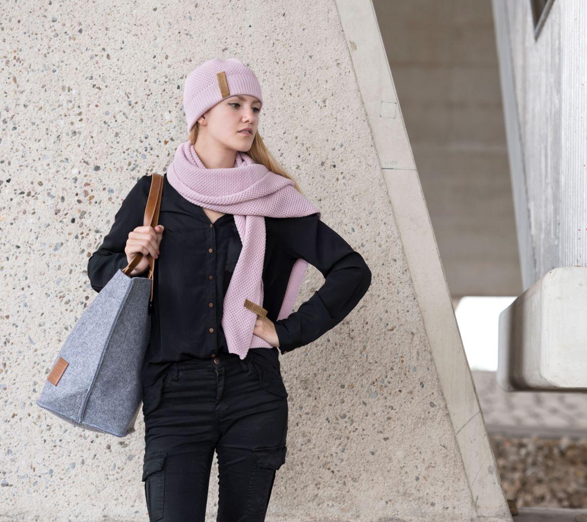 knit factory 1237021 jazz beanie roze 5
