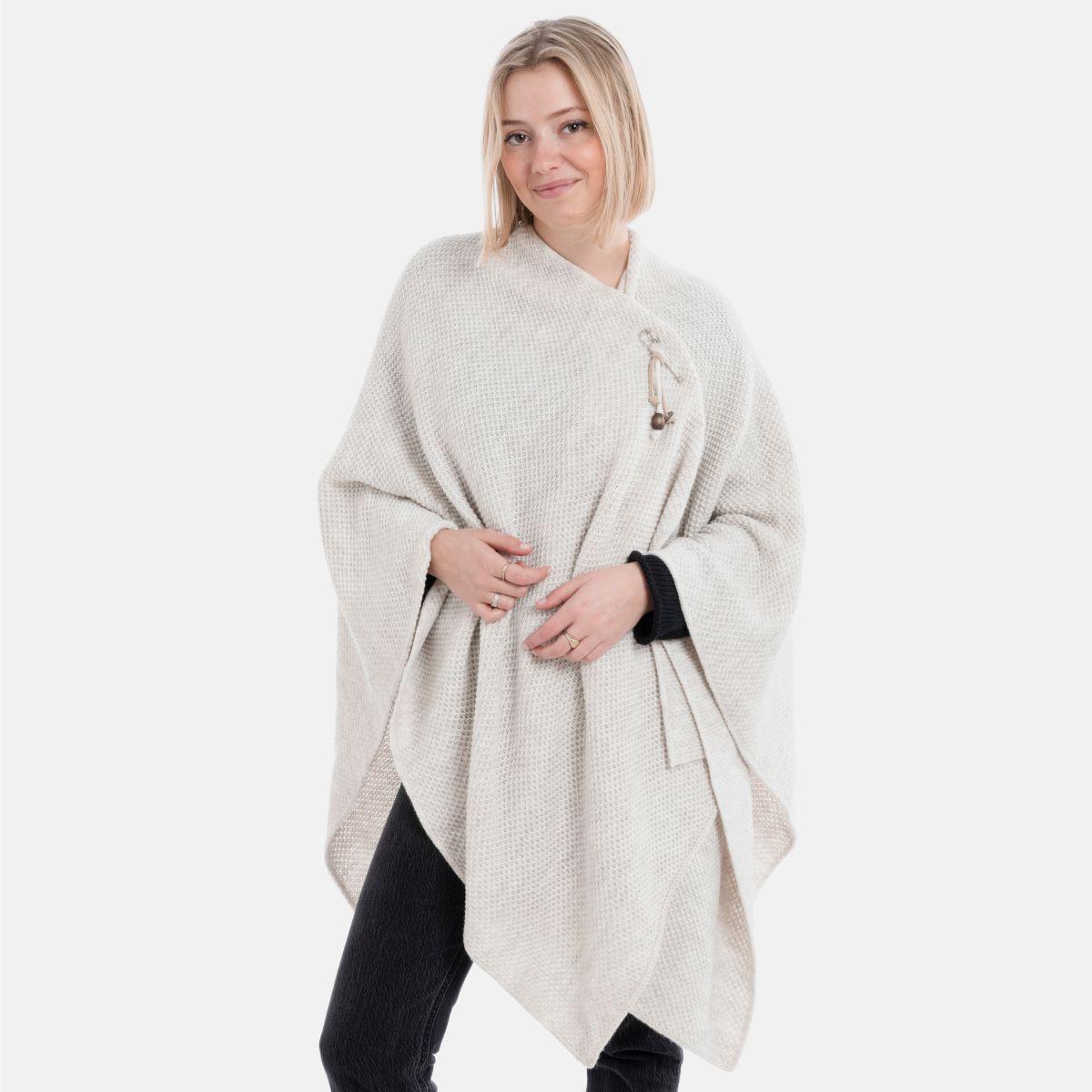 knit factory 1236112 jazz omslagvest beige 2