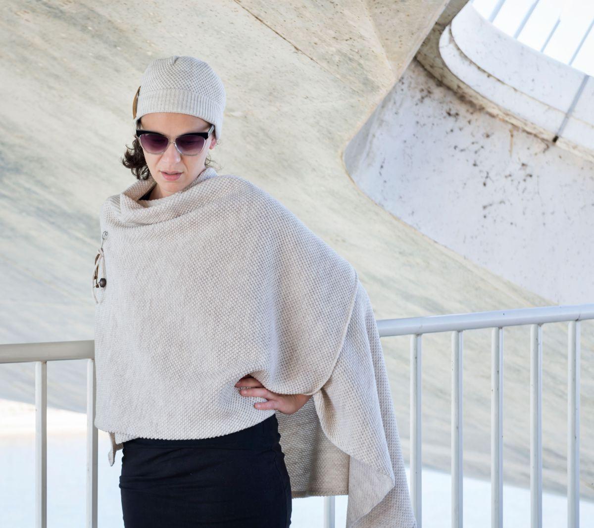 knit factory 1236112 jazz omslagvest beige 5