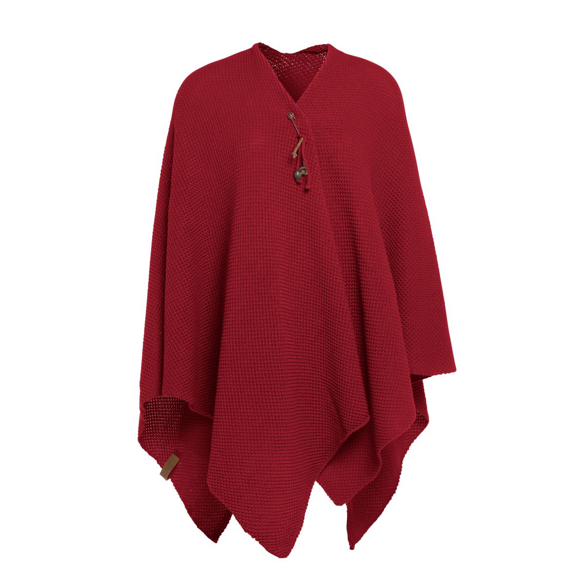 knit factory 1236103 jazz omslagvest bordeaux 1