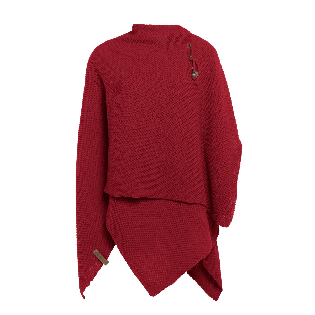 knit factory 1236103 jazz omslagvest bordeaux 2