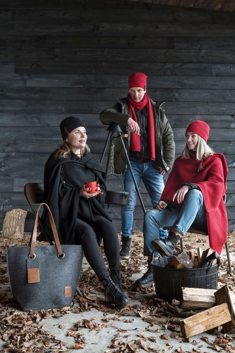 knit factory 1236103 jazz omslagvest bordeaux 4
