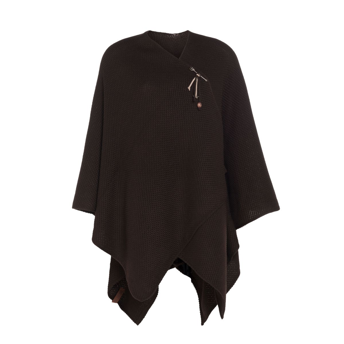 knit factory kf123061037 jazz omslagvest donkerbruin 1