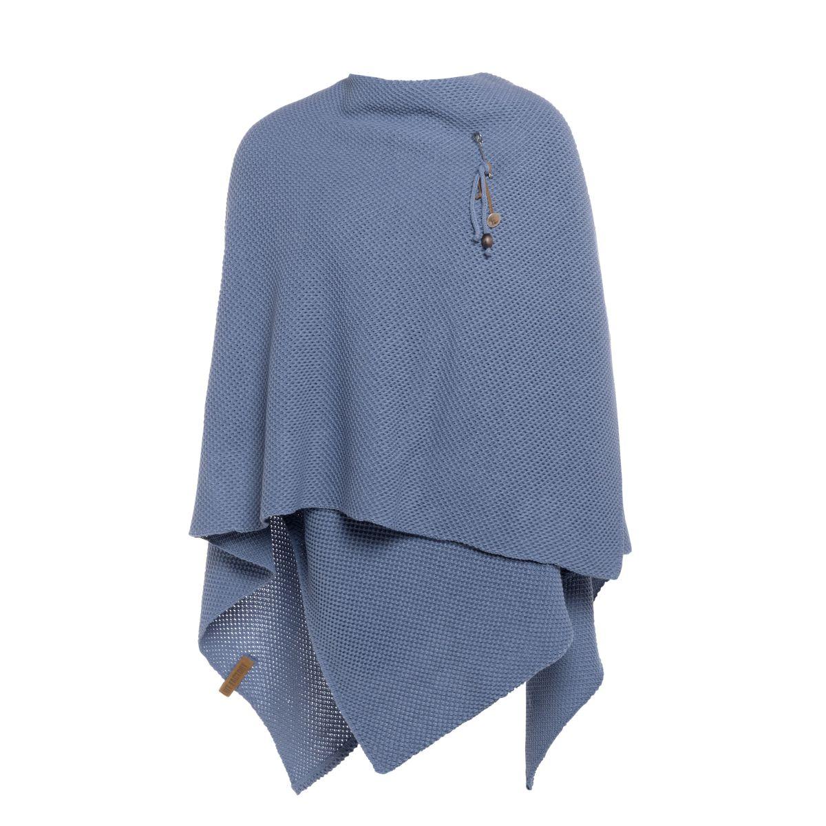 knit factory 1236132 jazz omslagvest indigo 2