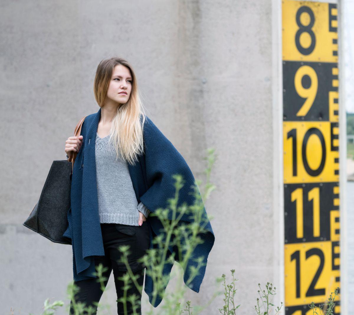 knit factory 1236113 jazz omslagvest jeans 4
