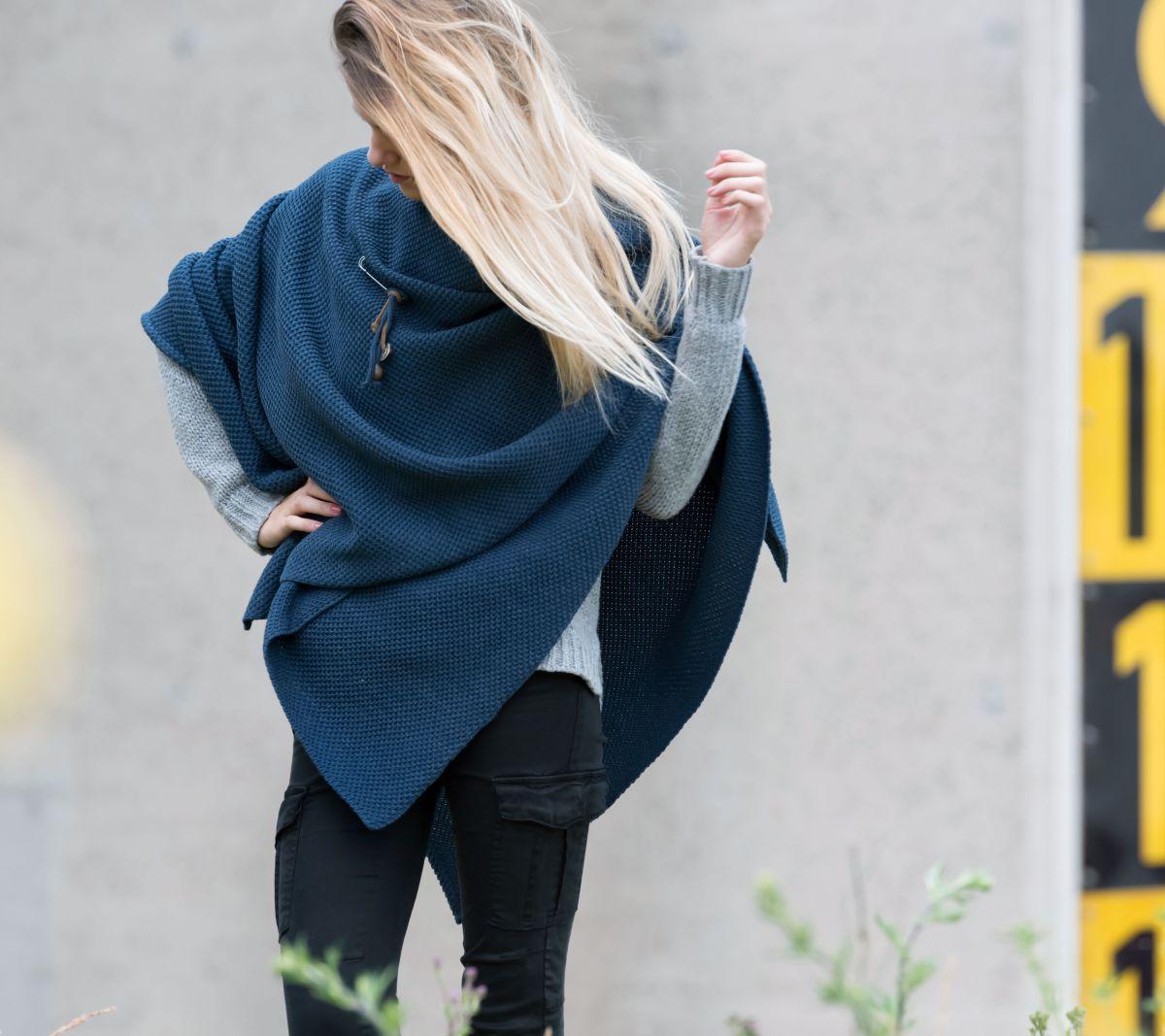 knit factory 1236113 jazz omslagvest jeans 5