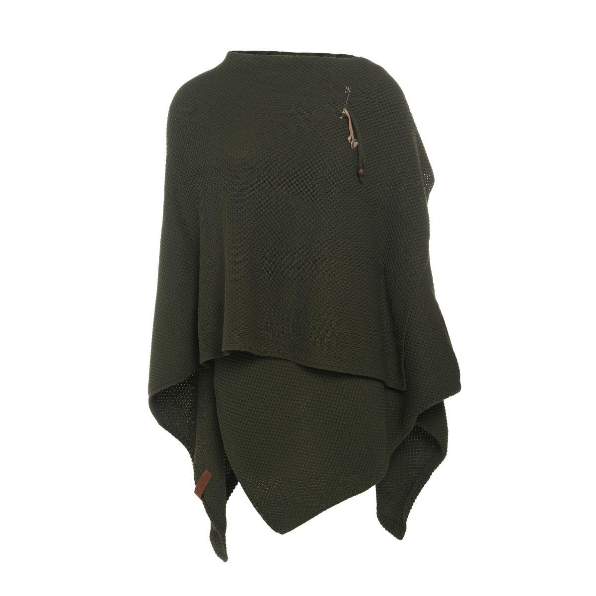 knit factory 1236125 jazz omslagvest khaki 2