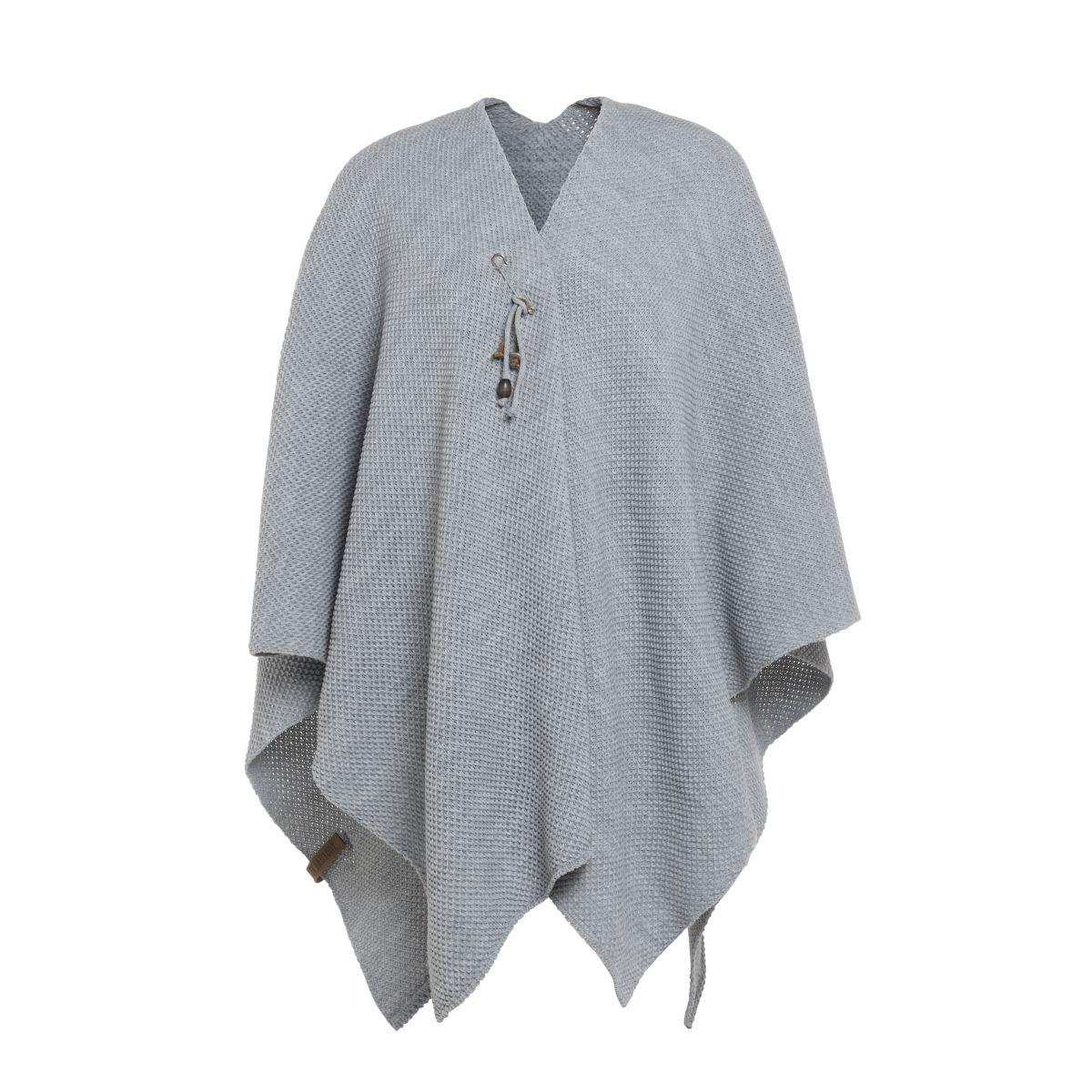 knit factory 1236111 jazz omslagvest licht grijs 1
