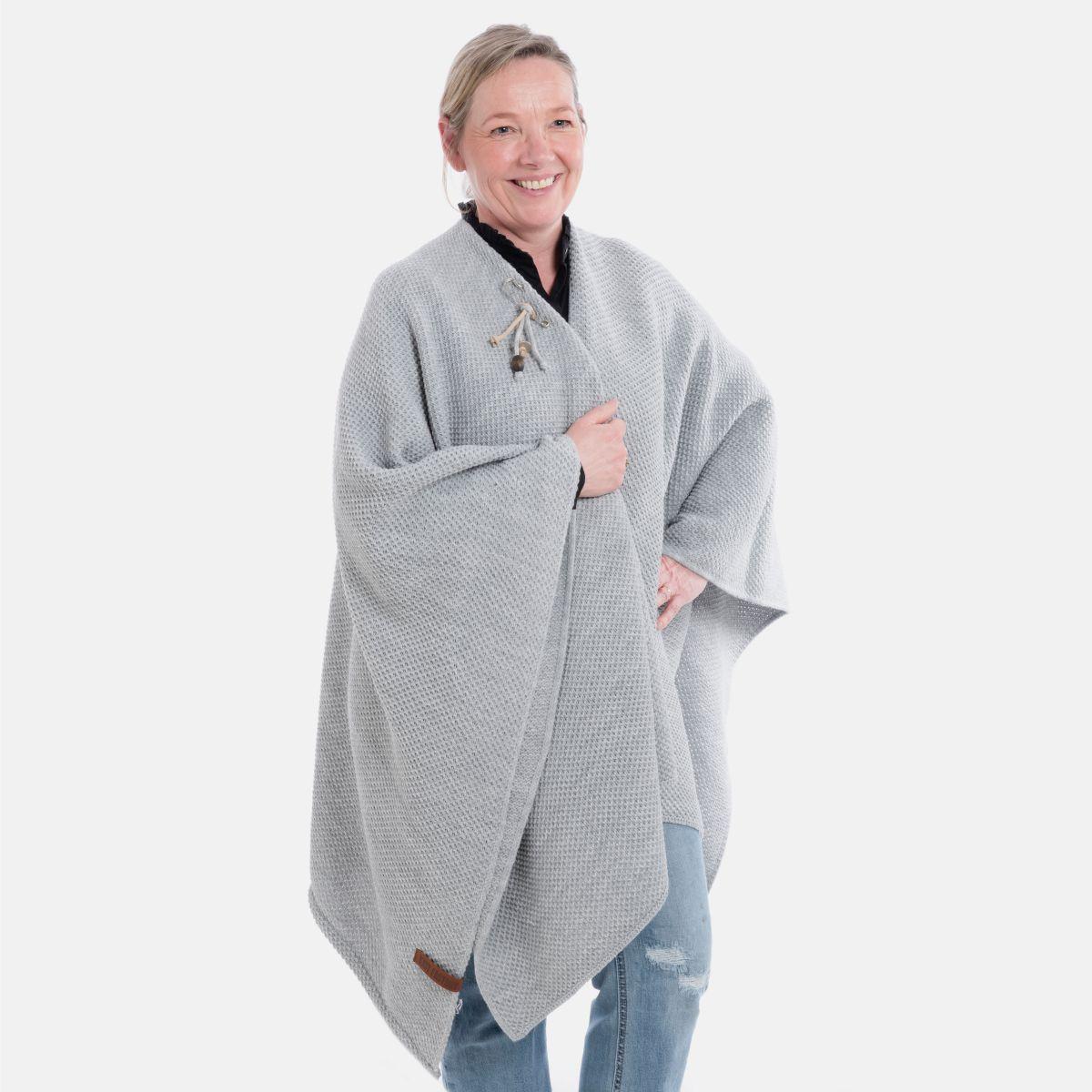knit factory 1236111 jazz omslagvest licht grijs 2