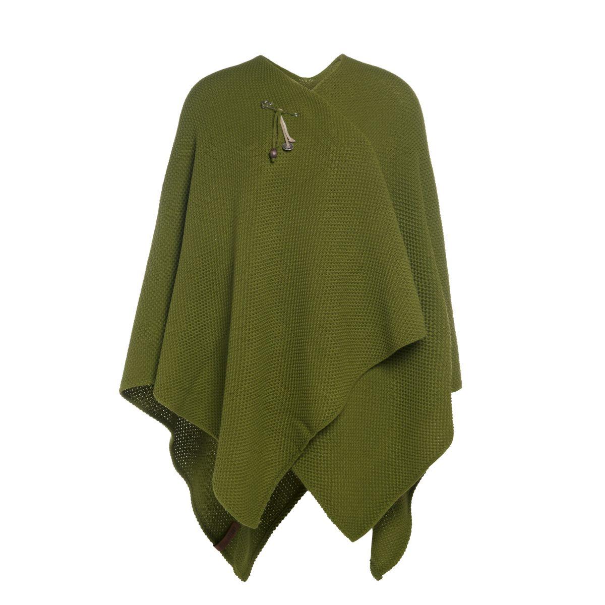 knit factory 1236115 jazz omslagvest mosgroen 1