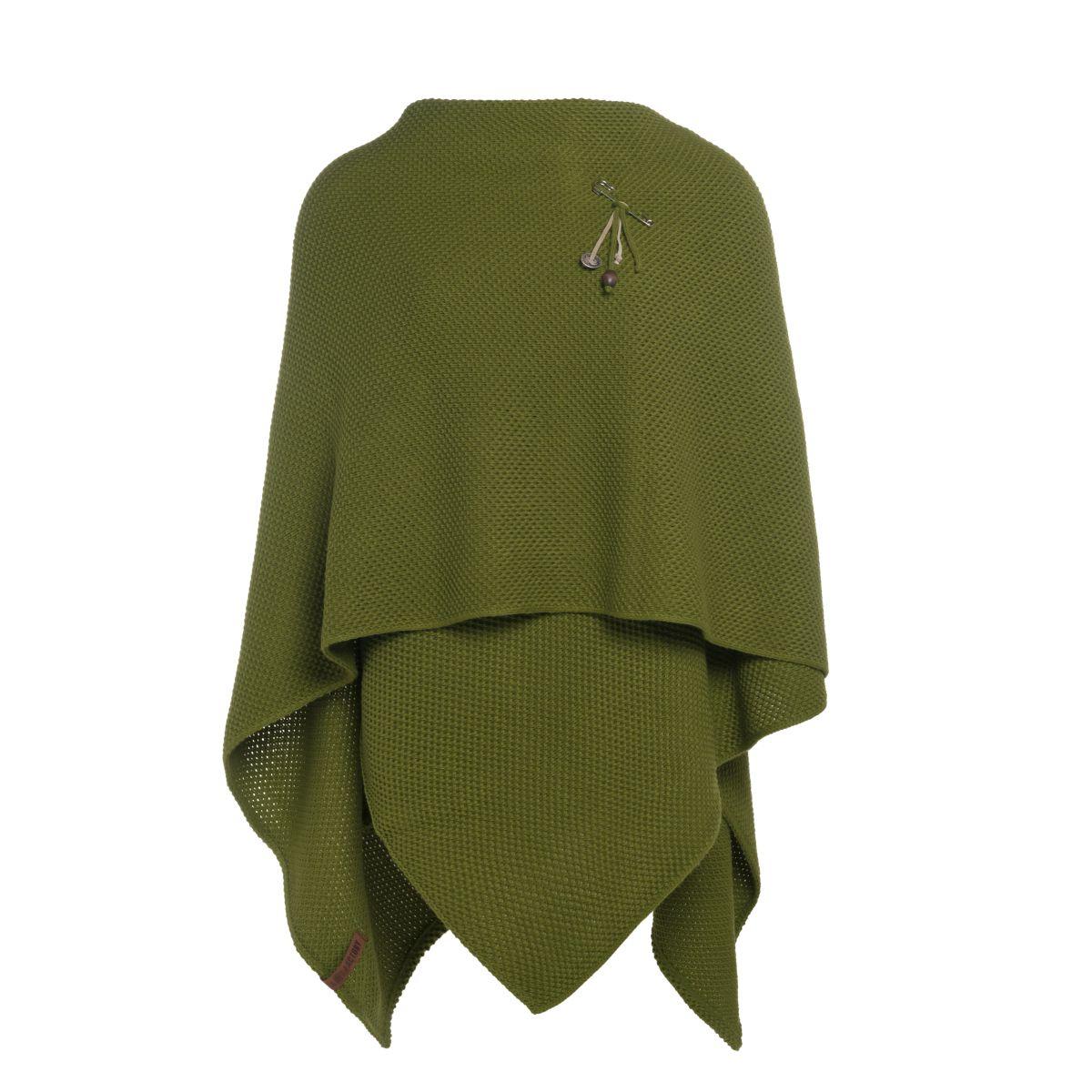 knit factory 1236115 jazz omslagvest mosgroen 2