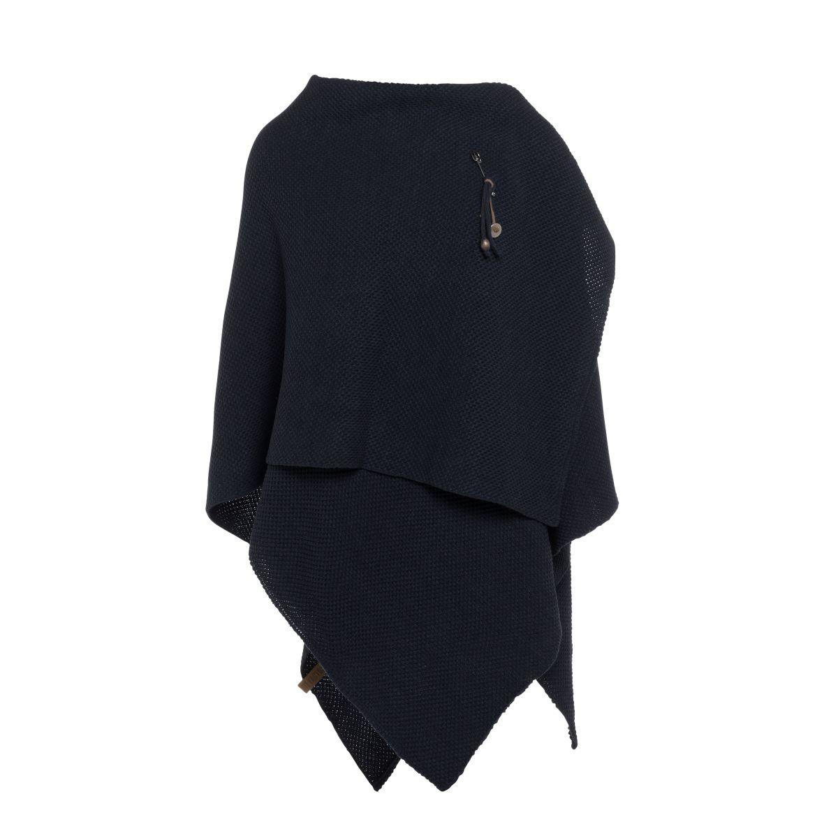 knit factory 1236126 jazz omslagvest navy 2