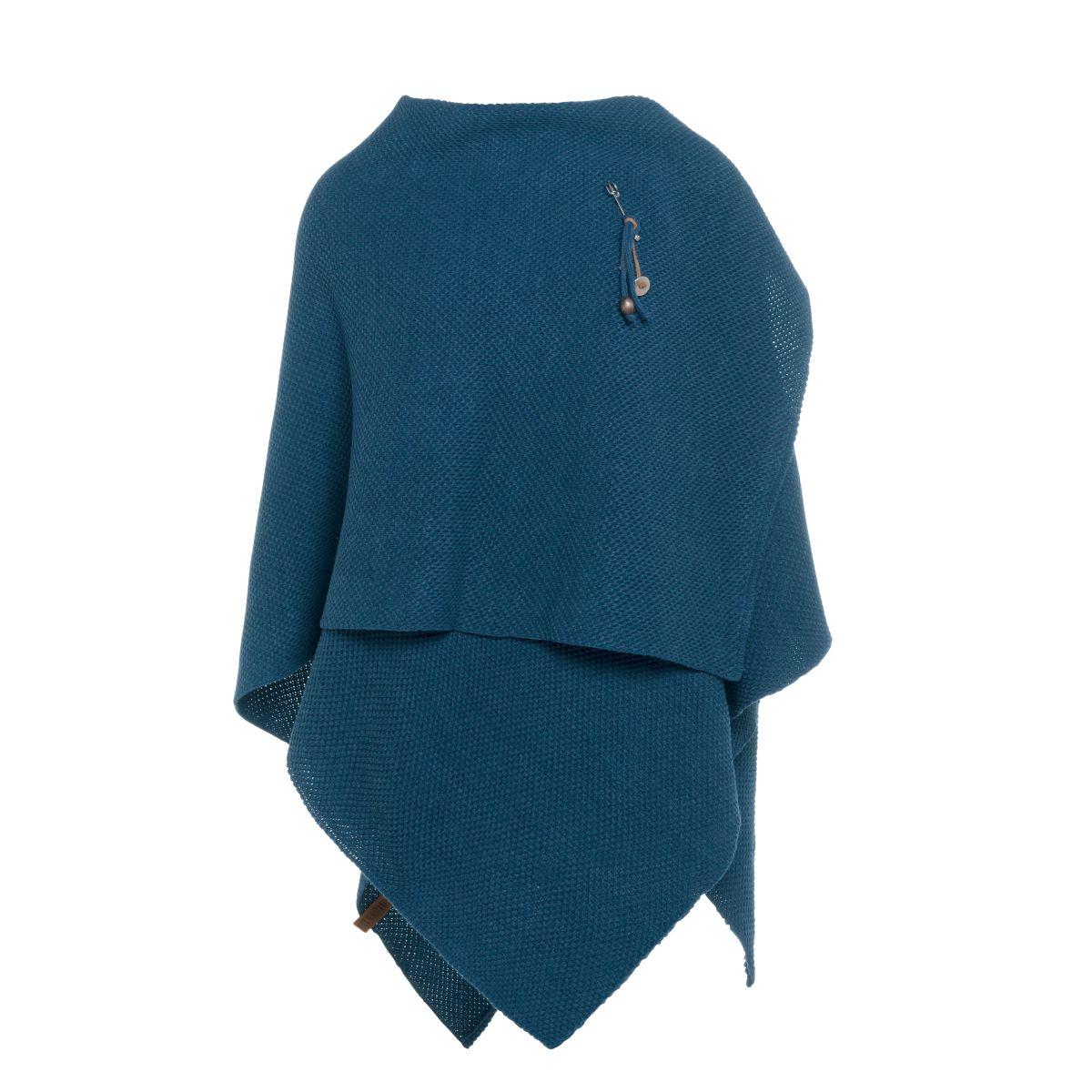 knit factory 1236108 jazz omslagvest petrol 2